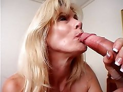 Blowjob Facial Mature Blonde Pantyhose