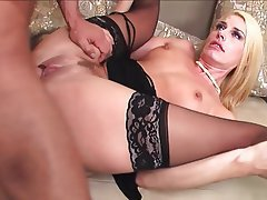 Blonde Lingerie Mature MILF Stockings