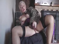Blonde Masturbation Mature MILF Stockings