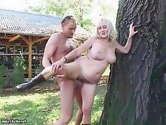 Big Boobs German Granny Hairy Mature