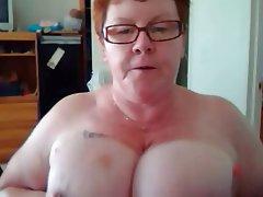 Amateur BBW Big Boobs Mature Redhead
