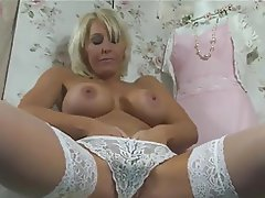 Lingerie Masturbation Mature MILF Stockings