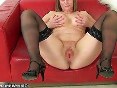 British Mature MILF Stockings
