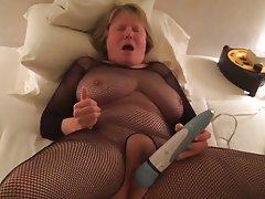 Lingerie Masturbation Mature Orgasm Stockings