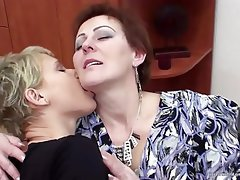 Lesbian Mature MILF Old and Young Granny