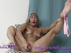 Amateur Masturbation Mature MILF Small Tits