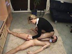 BDSM Face Sitting Femdom Handjob Stockings