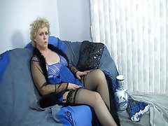 Amateur Blonde Mature Stockings