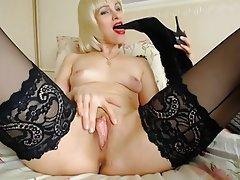 Foot Fetish MILF Mature Blonde Webcam