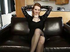 Big Boobs Masturbation MILF Redhead Stockings
